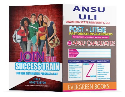 ansu post-utme past questions and answers