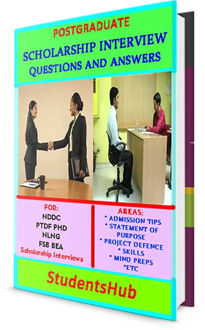 Postgraduate Scholarship Interview Questions and Answers