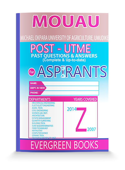 MOUAU POST-UTME Past Questions & Answers