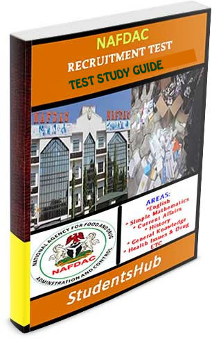 Download NAFDAC Recruitment Test Past Questions paper.