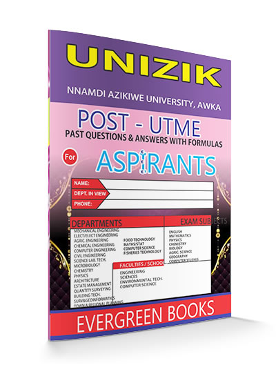 unizik post-utme past questions and answers