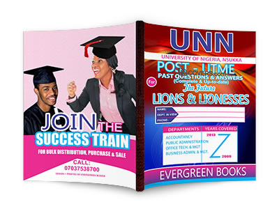 unn post-utme past questions and answers