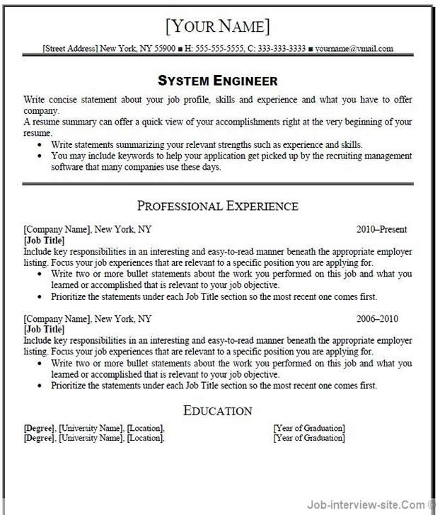 good resume title 01052017